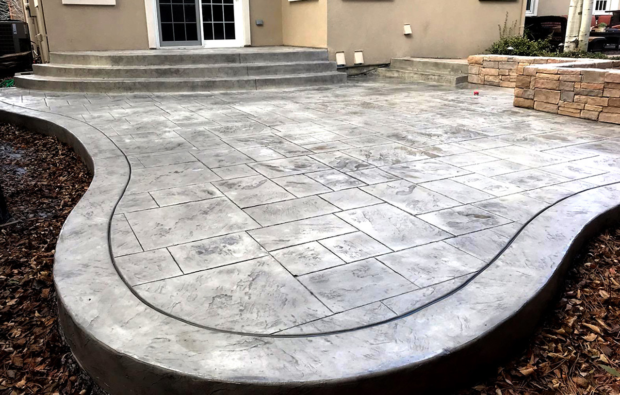 stamped concrete patio designs pictures